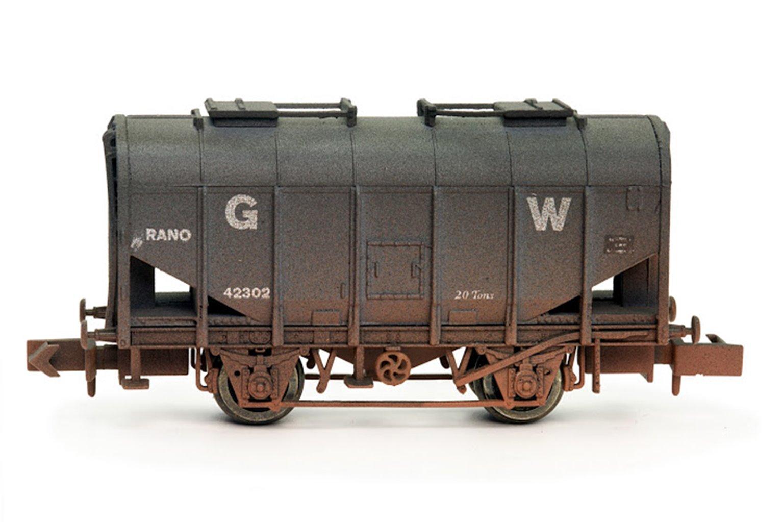 Bulk Grain Hopper GWR Livery - Weathered