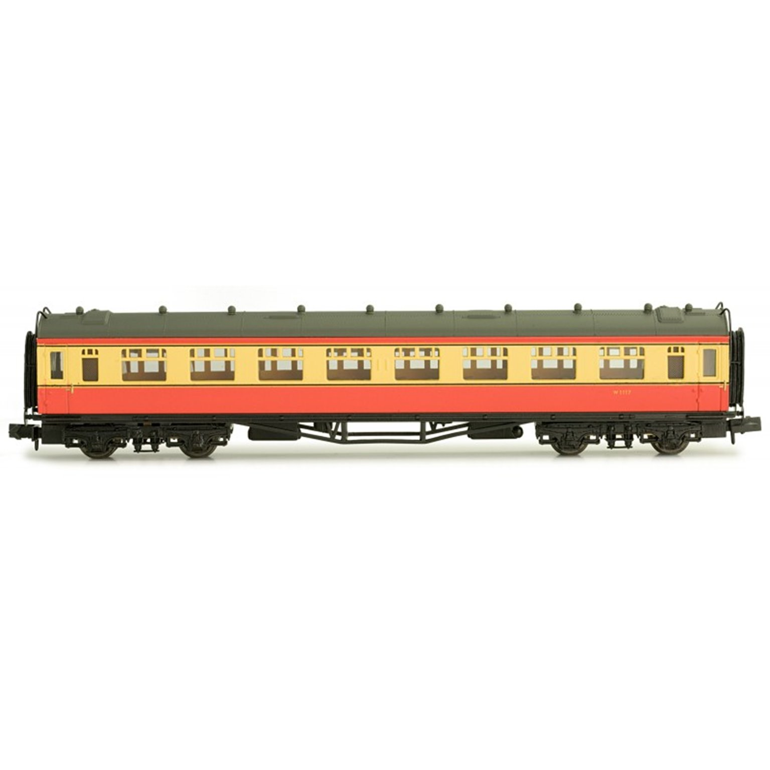 Collett second class W1117 in BR crimson and cream
