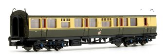 Collett Coach GWR Crest Chocolate / Cream Brake Composite 6527