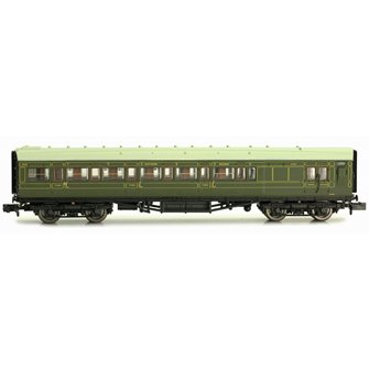 Maunsell Coach SR Brake 3rd Class Lined Green 4049