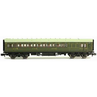 Maunsell Coach SR Brake 3rd Class Lined Green 4049