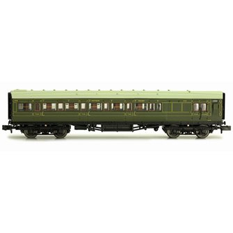Maunsell Coach SR Brake 3rd Class Lined Green 4048