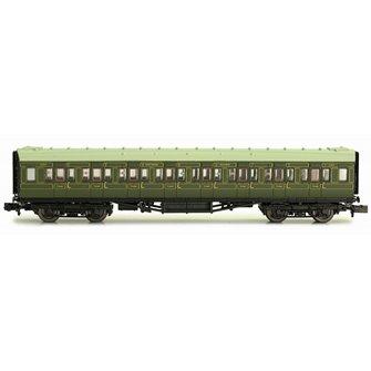 Maunsell Coach SR 3rd Class Lined Green 2353