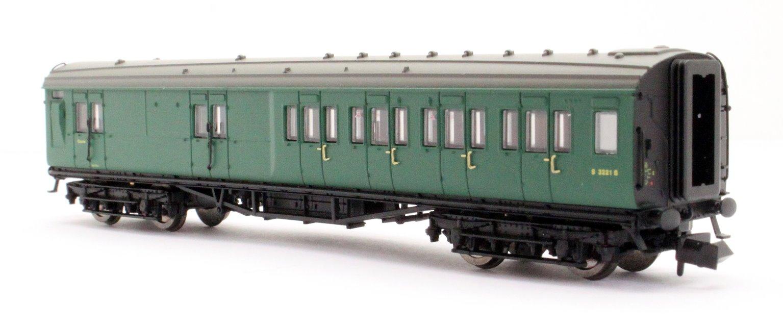 Maunsell Coach BR Brake 3rd Class SR Green 3221