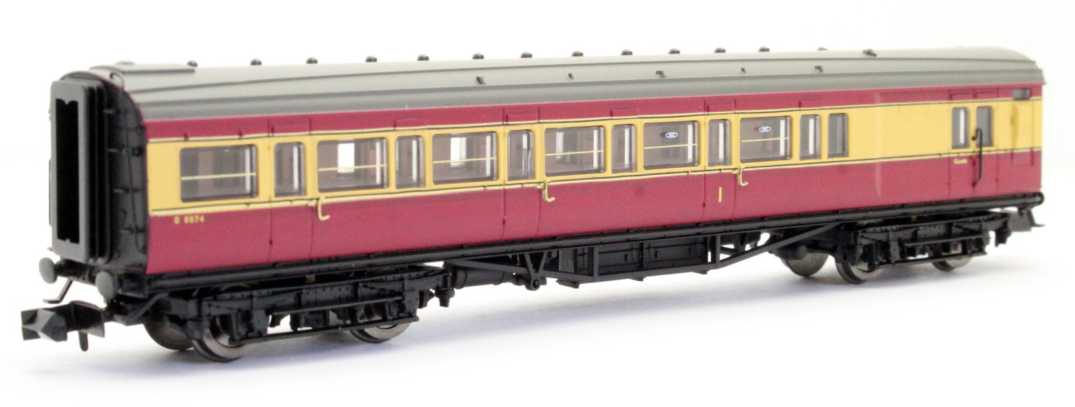 Maunsell Coach BR Brake Composite Crimson/Cream 6574
