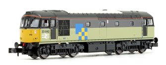 Class 33/0 33042 Triple Grey Construction Sector Diesel Locomotive DCC FITTED