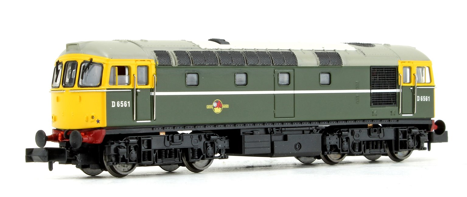 Class 33/0 D6561 BR Green with Full Yellow Front Diesel Locomotive