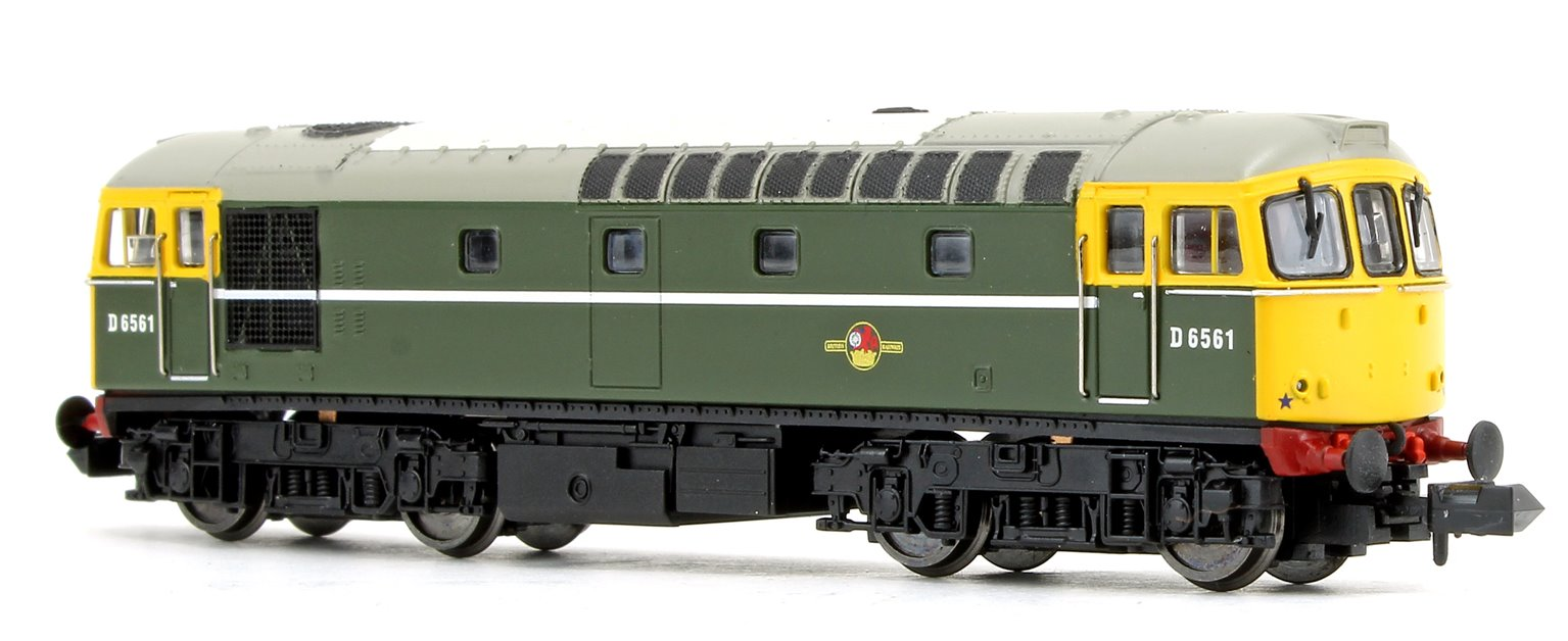 Class 33/0 D6561 BR Green with Full Yellow Front Diesel Locomotive DCC FITTED