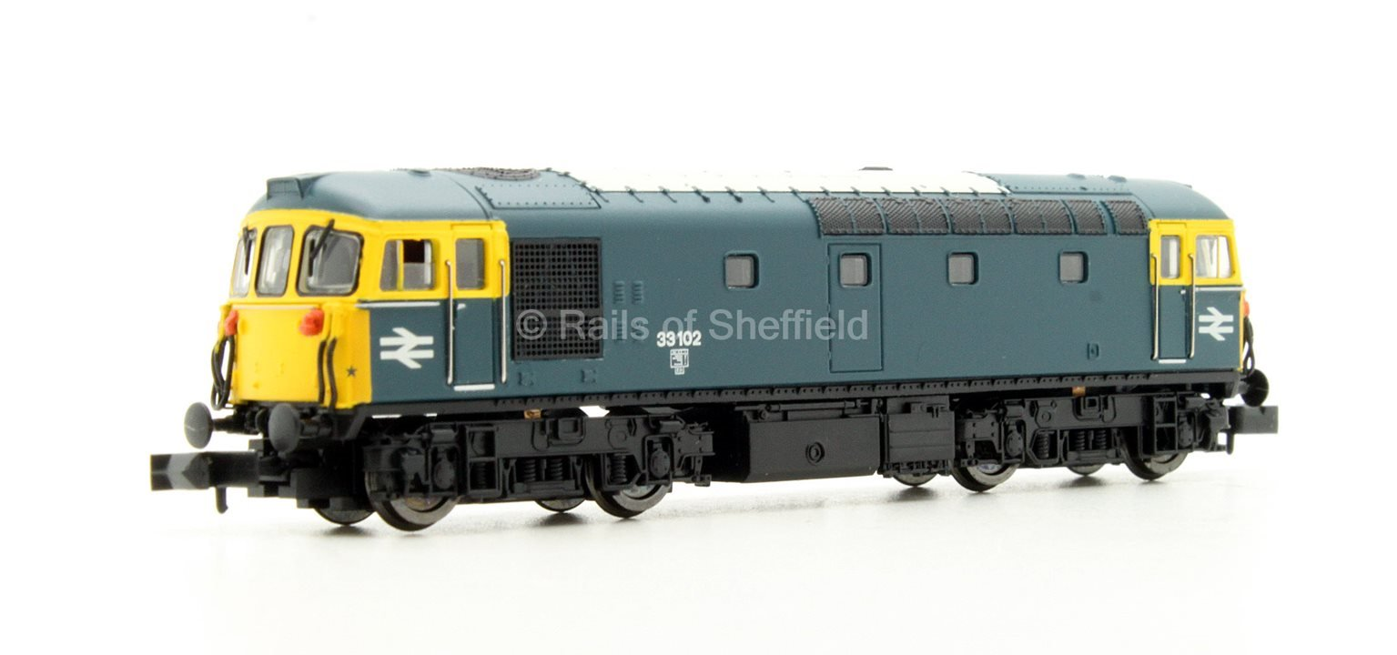 Class 33/1 #33102 BR Blue - DCC Fitted