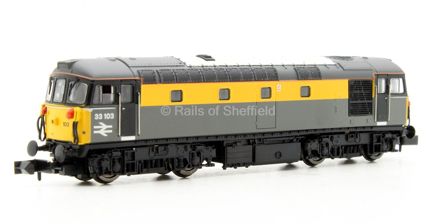 Class 33/1 #33103 Engineers Grey/Yellow 'Dutch' - DCC Fitted