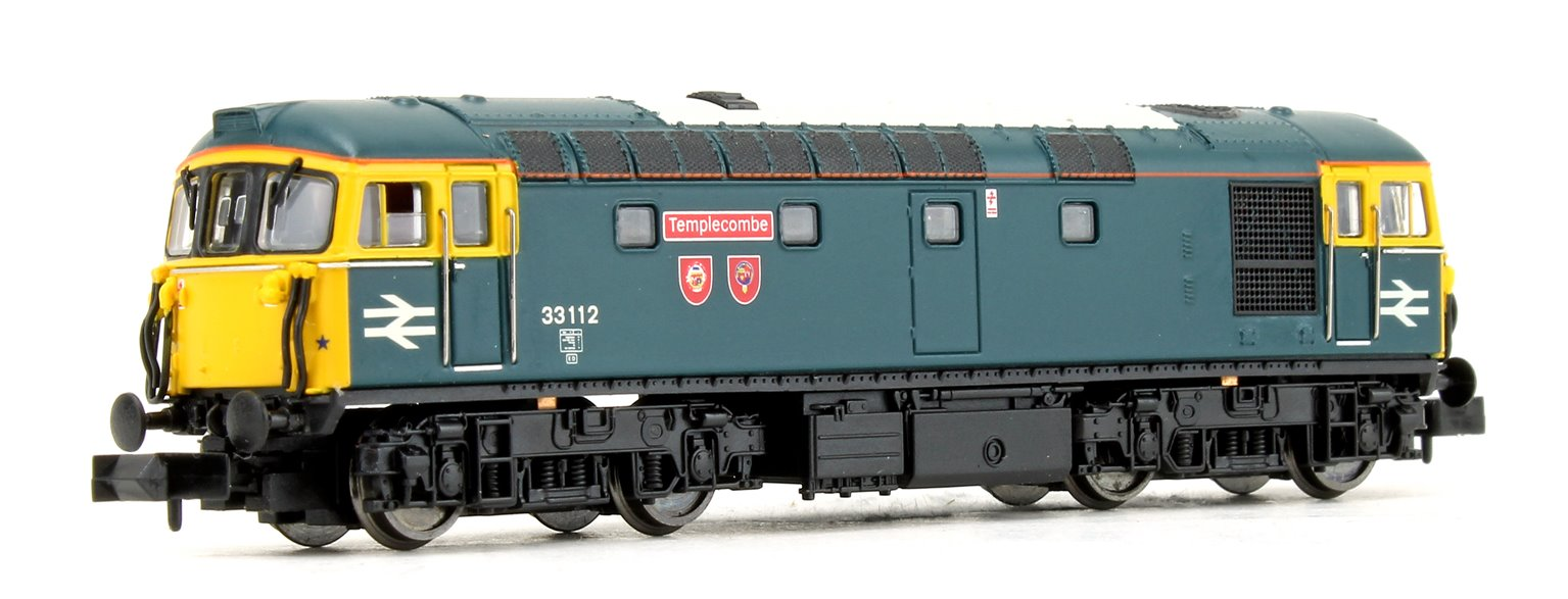 """Class 33/1 33112 """"Templecombe"""" BR Blue (Depot Special) Diesel Locomotive DCC FITTED"""