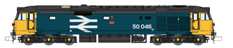 Class 50 Ajax 50046 Large Logo Refurbished DCC Fitted