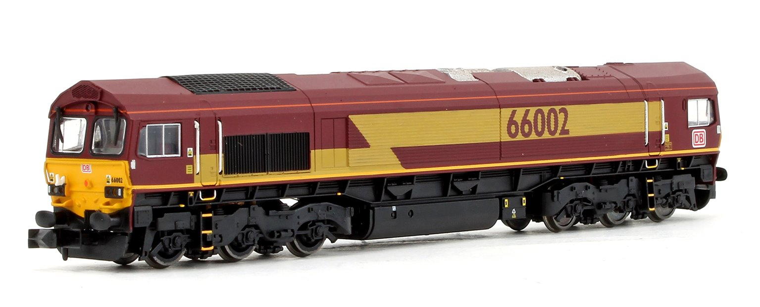 Class 66 66002 EWS DB Brand with 6 Megafrets & 6 x 45' Russell Containers