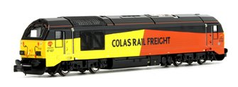 Class 67 027 'Charlotte' Colas Rail Diesel Locomotive DCC Fitted