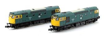 Pair of N Gauge BR Blue Class 27 Unpowered Dummy Locomotives