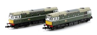 Pair of N Gauge BR Green Class 27 Unpowered Dummy Locomotives
