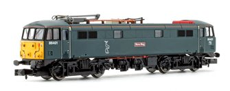 Class 86 401 Mons Meg Serco Caledonian Blue SYP Electric Locomotive