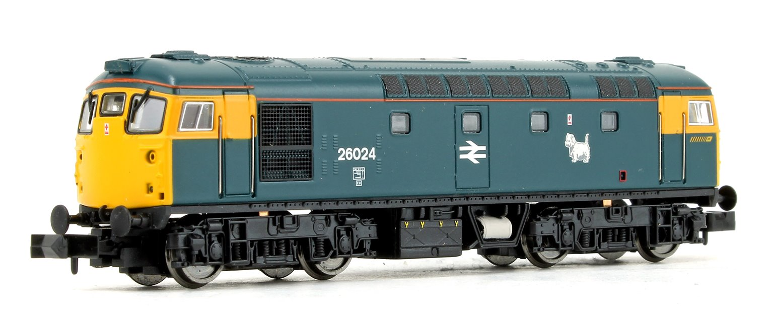 Class 26 024 BR Blue FYE Scottie Dog Diesel Locomotive DCC FITTED