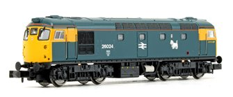 Class 26 024 BR Blue FYE Scottie Dog Diesel Locomotive DCC FITTED
