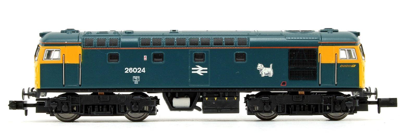 Class 26 024 BR Blue FYE Scottie Dog Diesel Locomotive