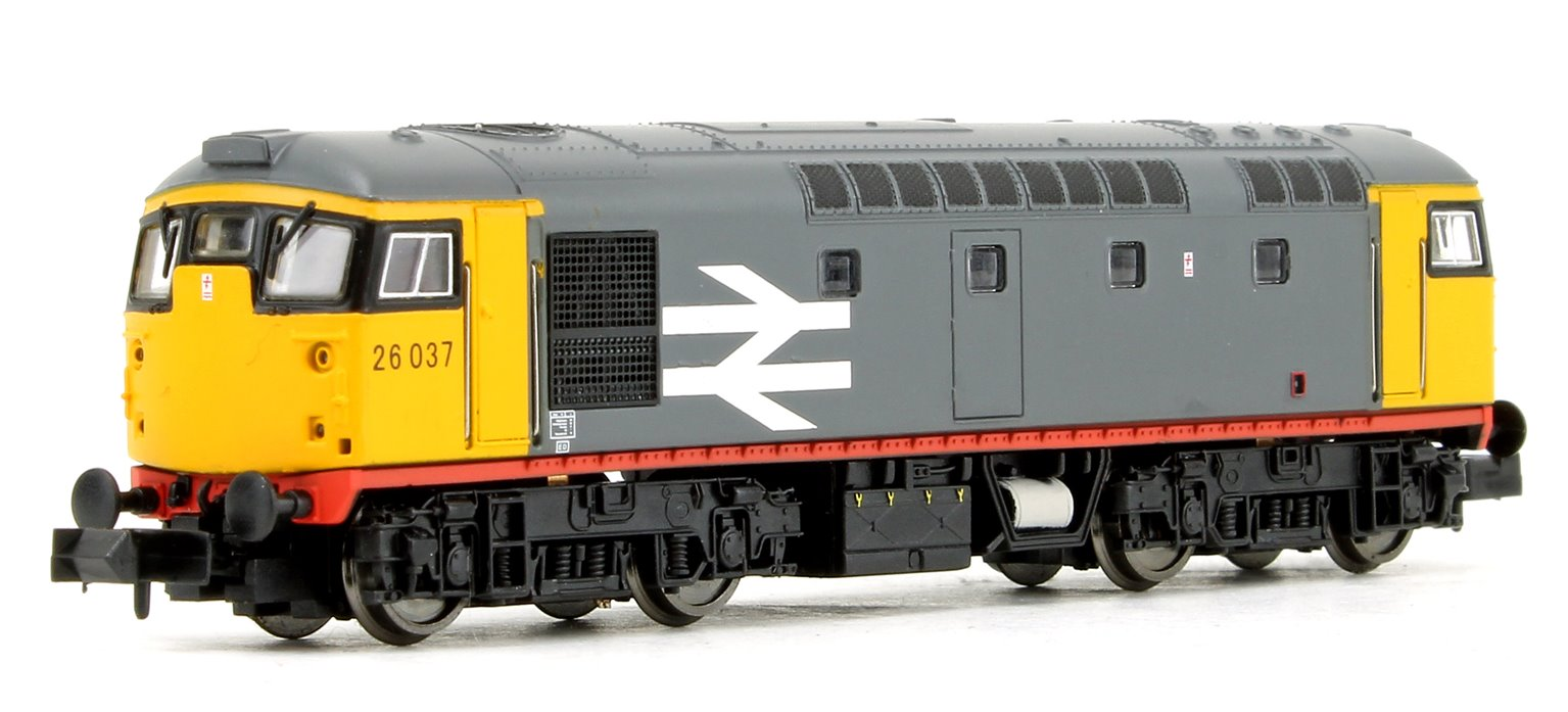 Class 26 037 BR Railfreight Grey Diesel Locomotive DCC FITTED