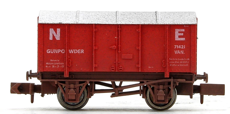 NE Red Gunpowder Van No.71421 Weathered