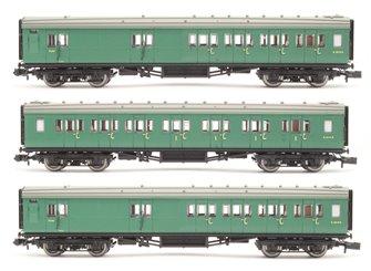 Maunsell Coach Set 392 SR Green (3)