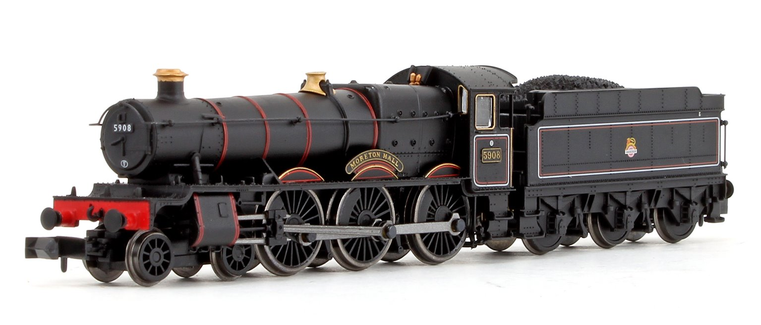 'Moreton Hall' BR Lined Black Early Crest 4-6-0 Steam Locomotive No.5908 DCC FITTED