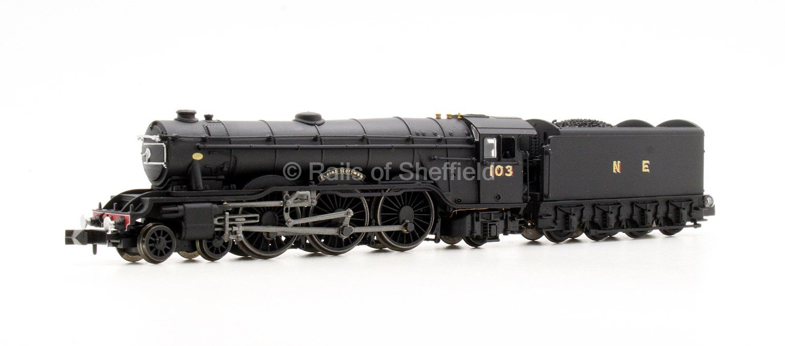 A1 Flying Scotsman 103 Wartime Black NE - DCC Fitted