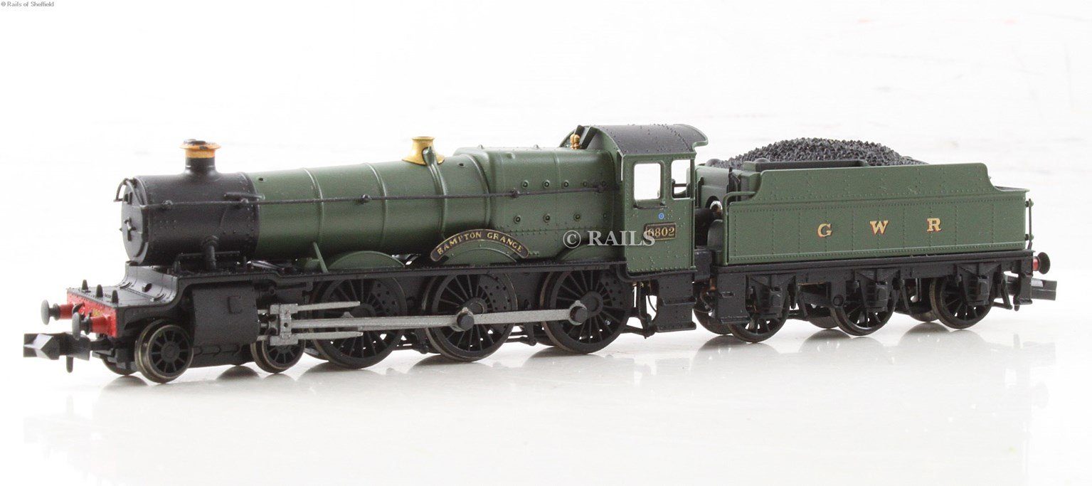"Class 6800 4-6-0 6802 ""Bampton Grange"" in GWR green with 'G & W' lettering. DCC Fitted"