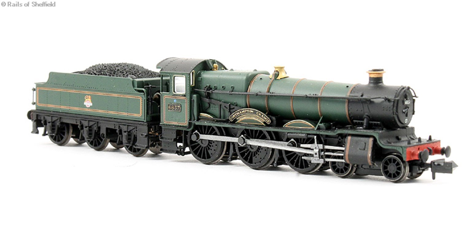 "Class 6800 4-6-0 6837 ""Forthampton Grange"" in BR lined green with early emblem. DCC Fitted"