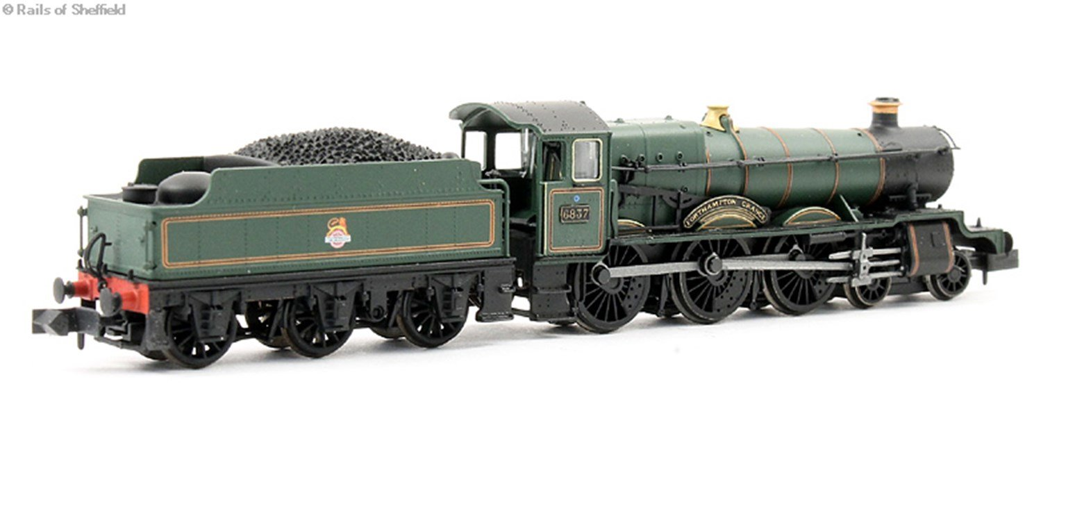 """Class 6800 4-6-0 6837 """"Forthampton Grange"""" in BR lined green with early emblem. DCC Fitted"""