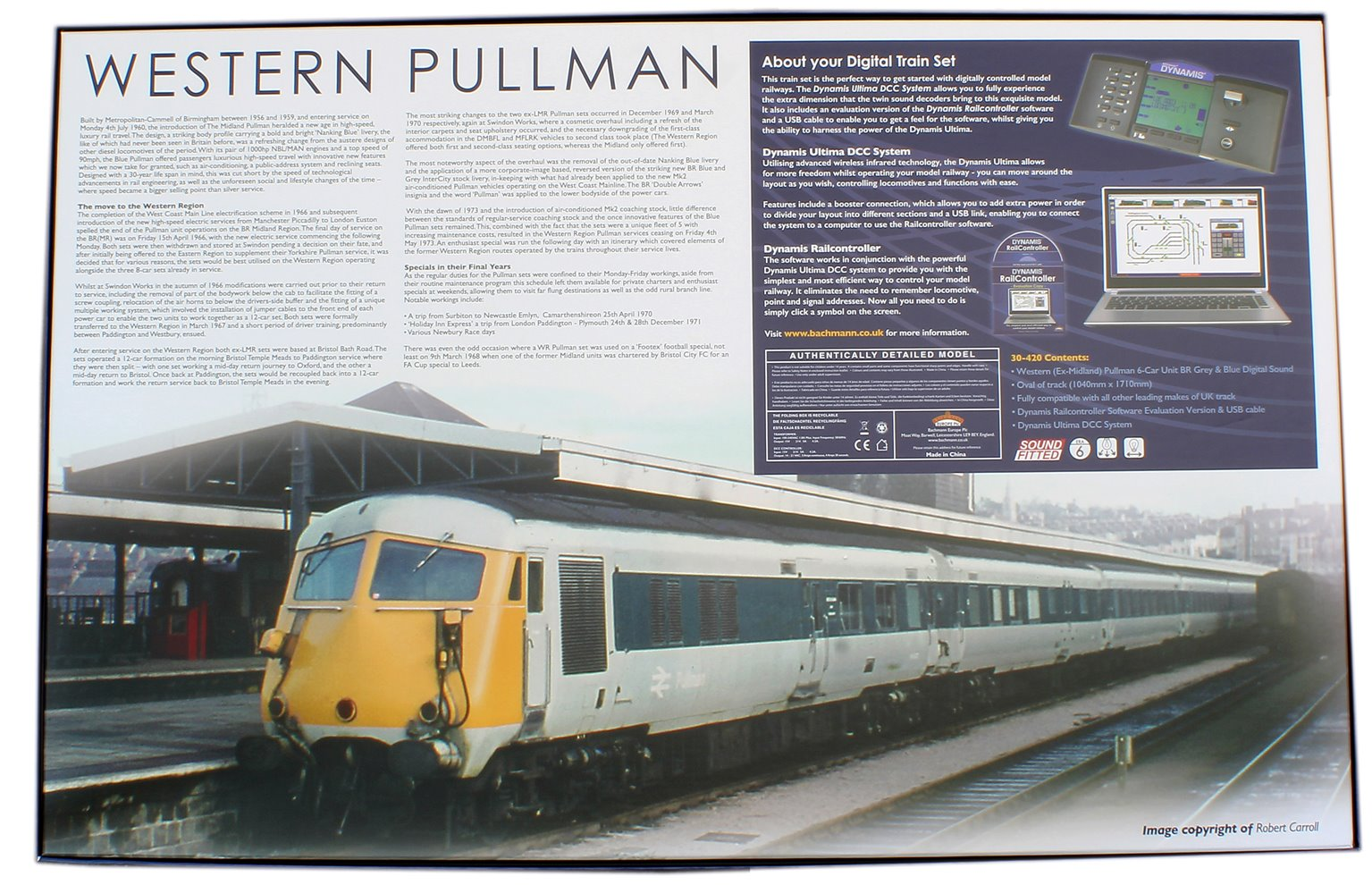 Western Pullman Dynamis Ultima Digital Sound Train Set in Grey/Blue British Rail Pullman livery
