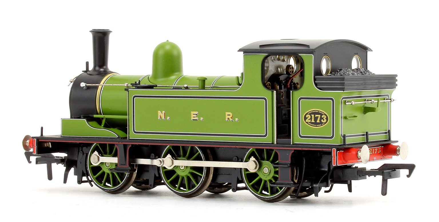 Class E1 No. 2173 in NER Lined Green livery 0-6-0 Tank Locomotive