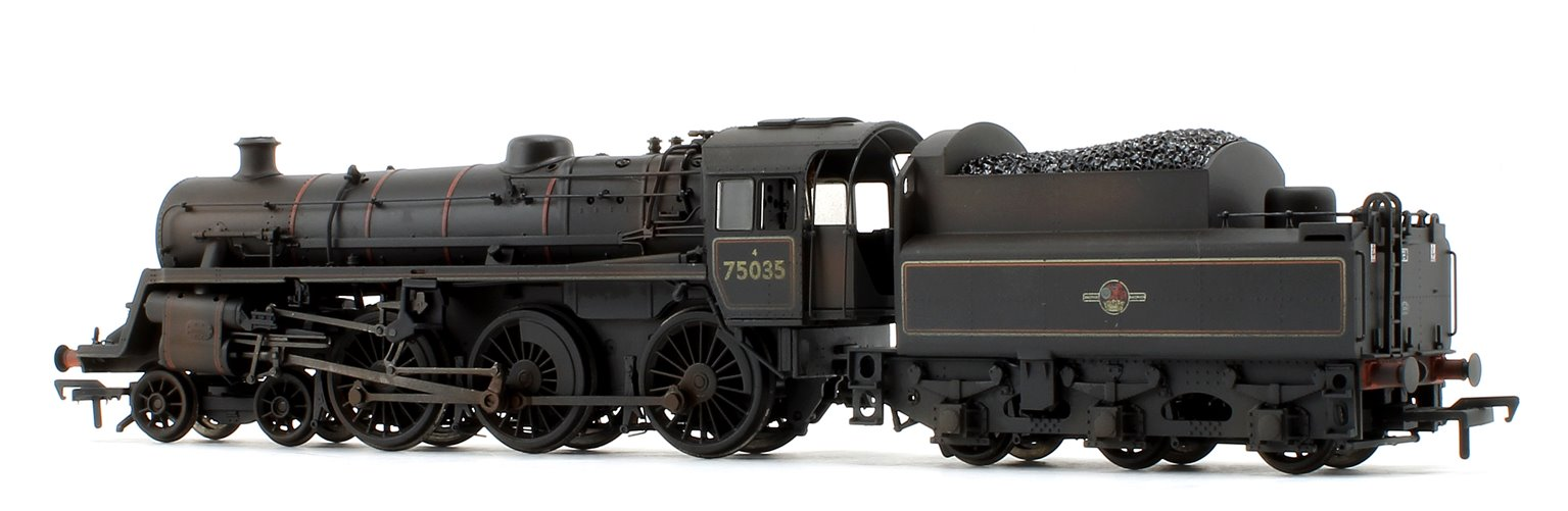 BR Standard Class 4MT #75035 BR Lined Black Late Crest - Weathered