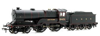 Class D11/2 'James Fitzjames' LNER Black 4-4-0 Locomotive 6401 - FREE UK POST
