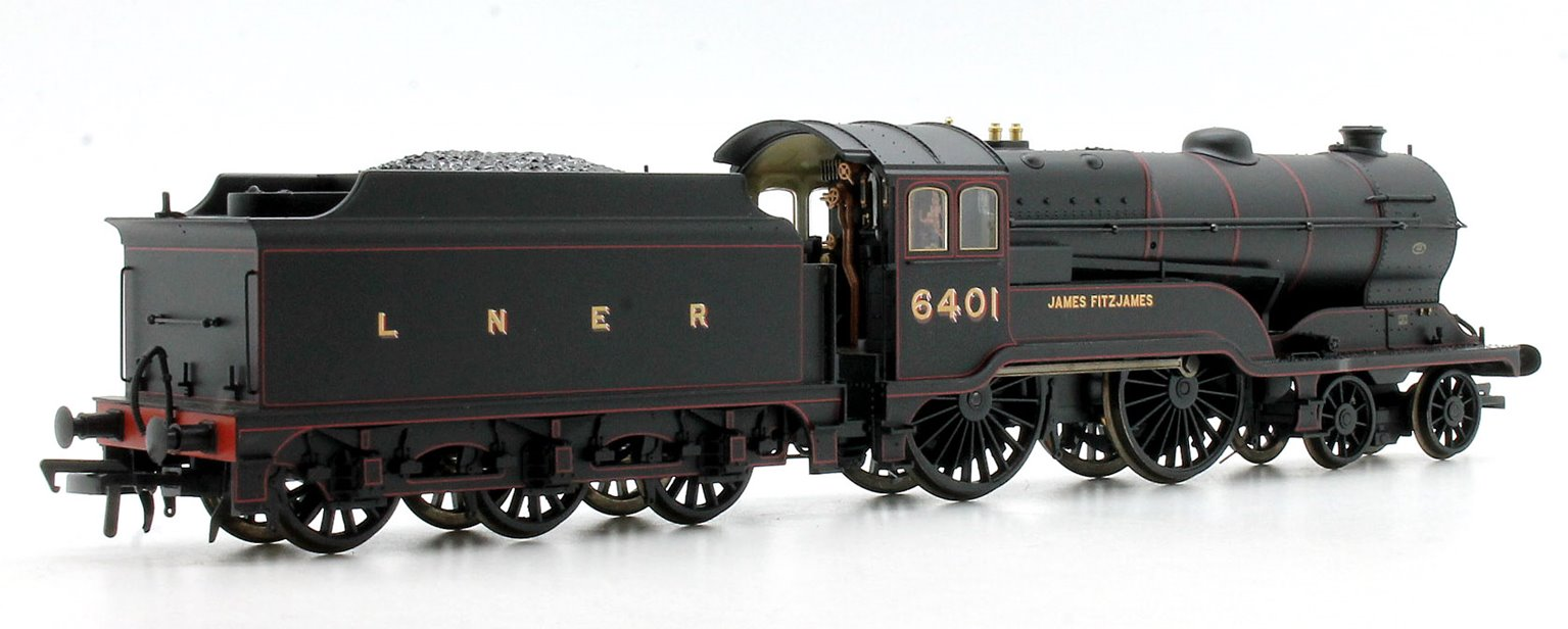 Class D11/2 'James Fitzjames' LNER Black 4-4-0 Locomotive 6401