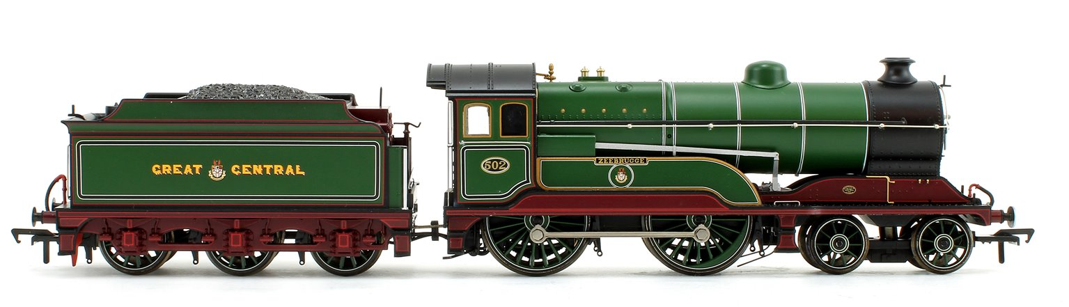 GCR Class 11F 'Zeebrugge' Great Central Lined Green 4-4-0 Steam Locomotive No.502 DCC Sound