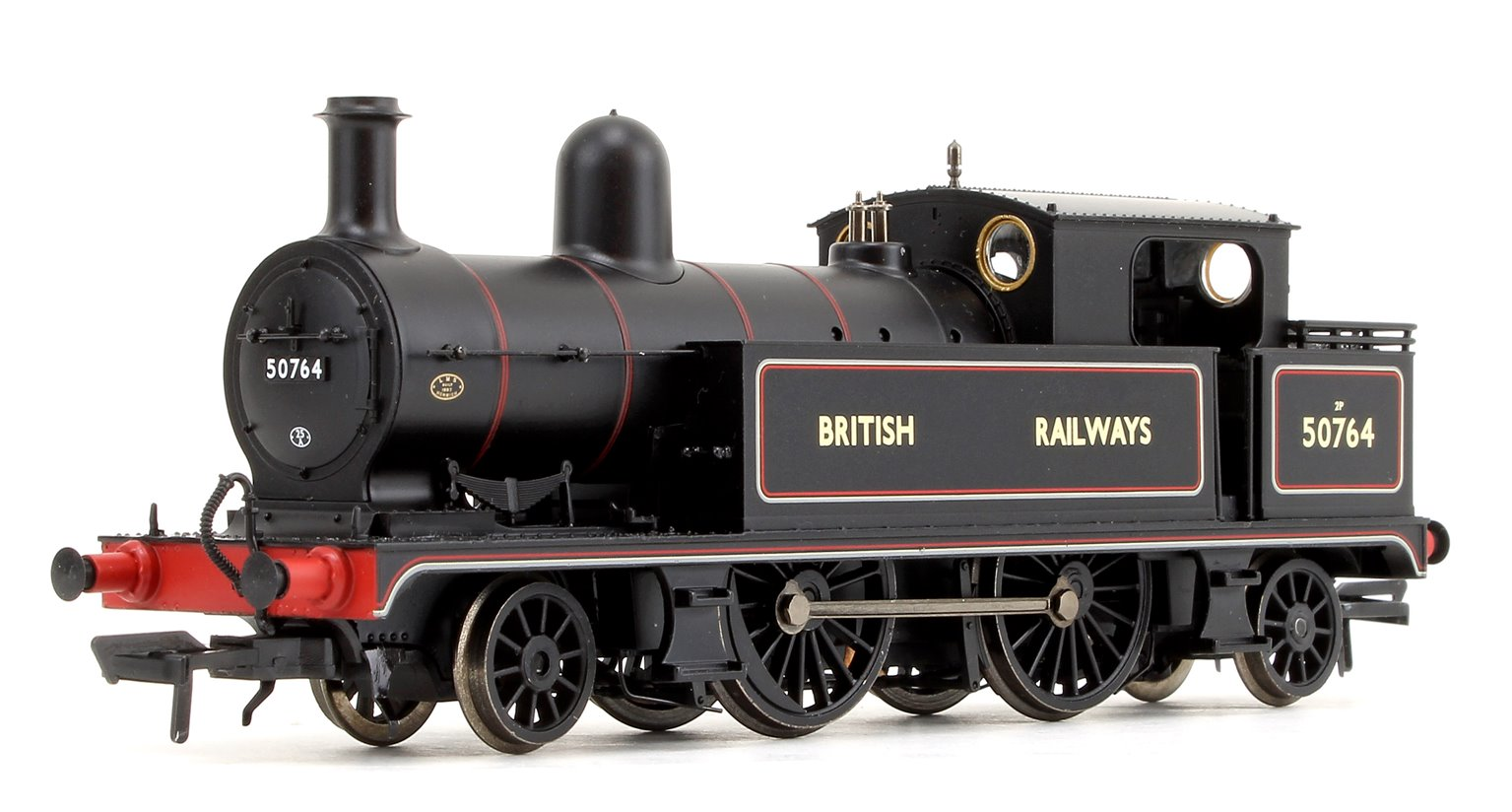 L&YR 2-4-2 Tank British Railways Lined Black Locomotive No.50764