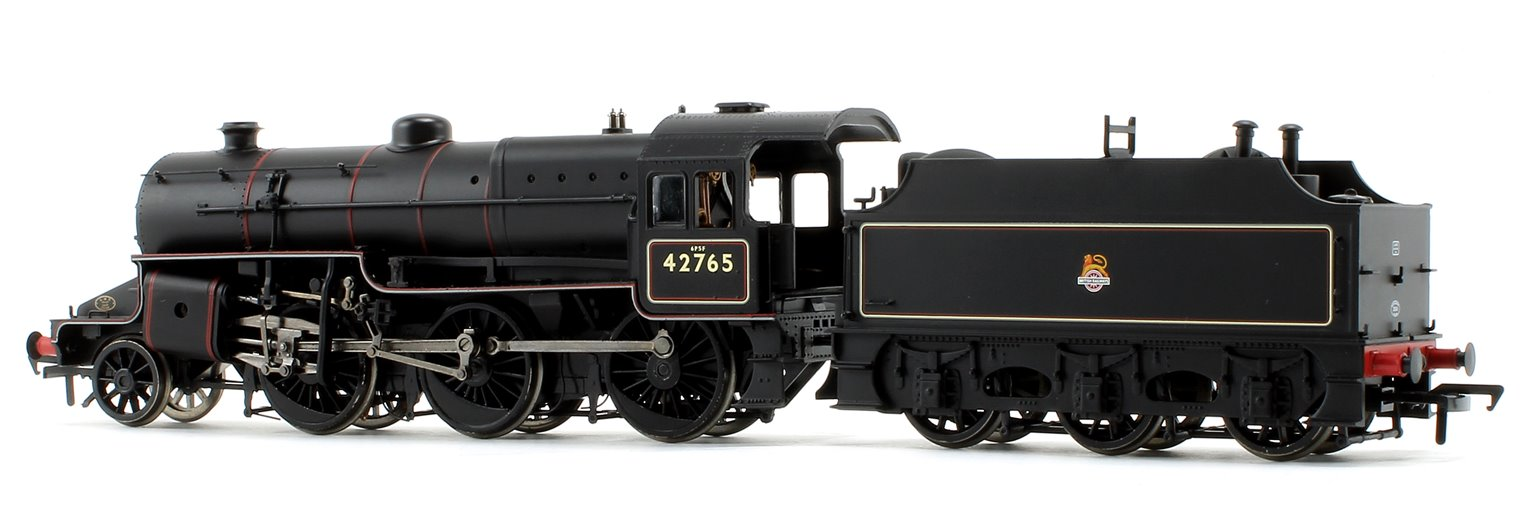 LMS Crab BR Lined Black Early Emblem 2-6-0 Steam Locomotive No.42765