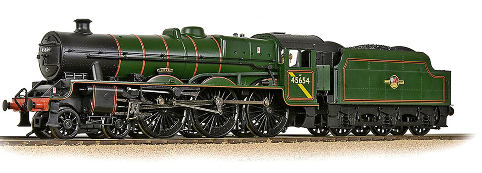 LMS 5XP Jubilee with Riveted Tender 45654 'Hood' BR Lined Green (Late Crest) - DCC Sound
