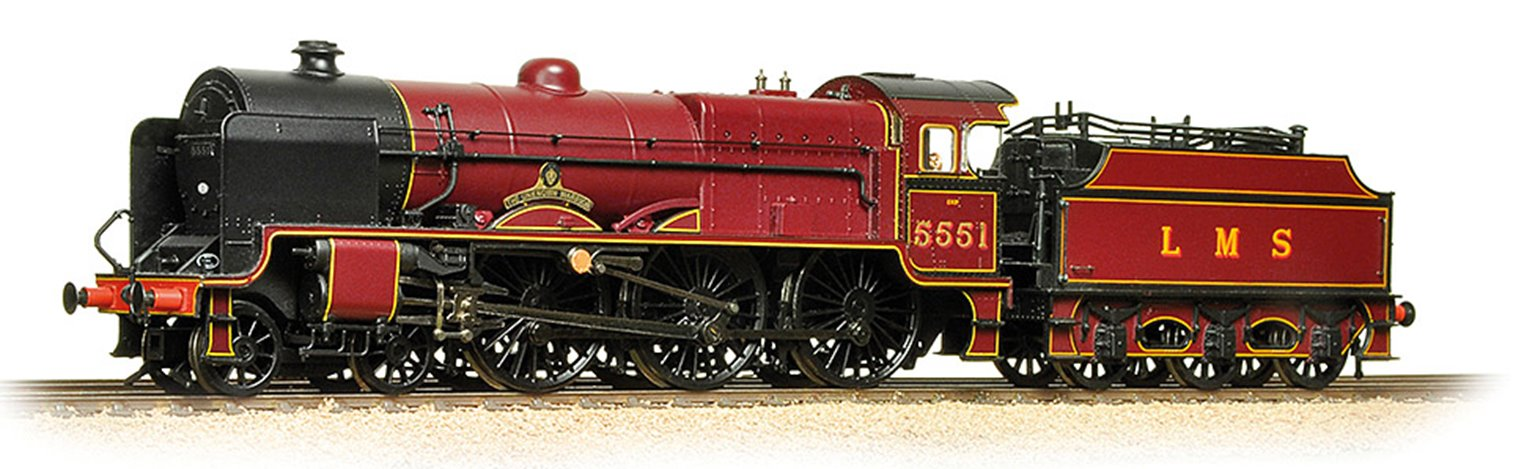 LMS 5XP 'Patriot' 5551 'The Unknown Warrior' LMS Lined Crimson - DCC Sound