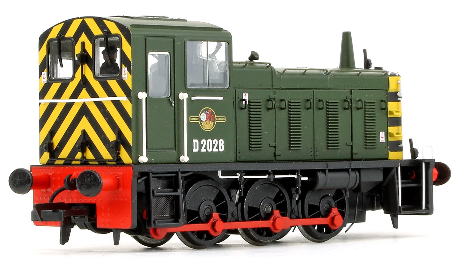Class 03 - D2028 BR Green with wasp stripes Diesel Shunter Locomotive