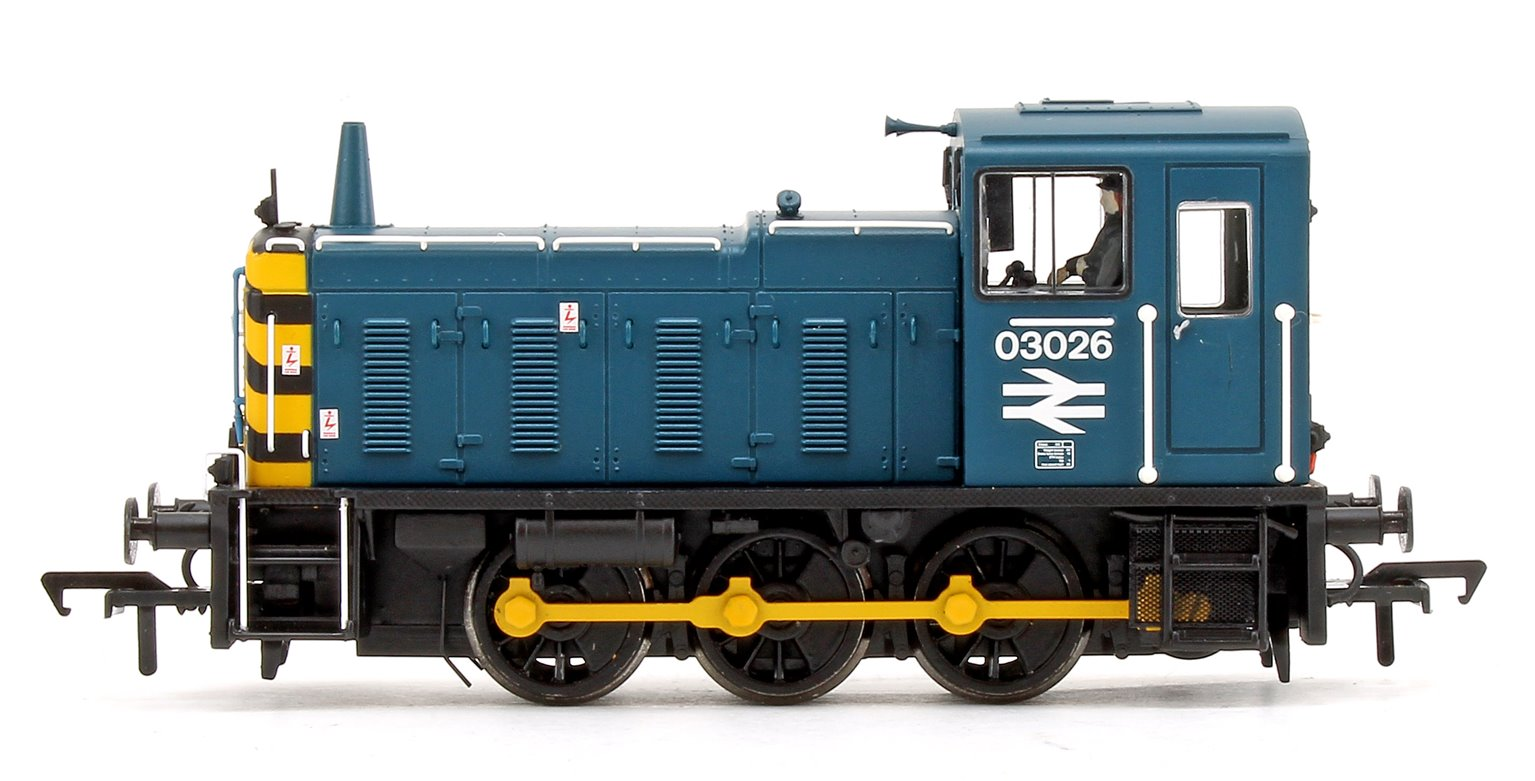 Class 03 026 BR Blue with Wasp Stripes Diesel Shunter Locomotive DCC Sound
