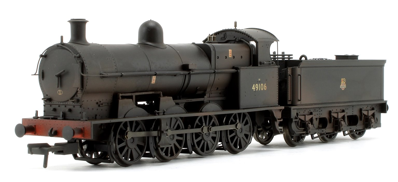 Class G2A BR Black Early Emblem Weathered 0-8-0 Steam Locomotive No.49106