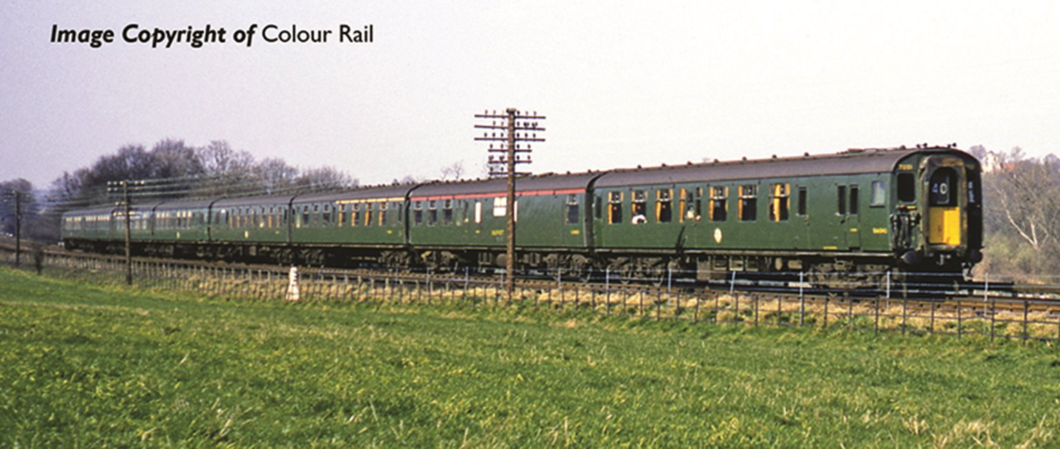 Class 410 4BEP 4 Car EMU 7003 in BR Green with small yellow panel
