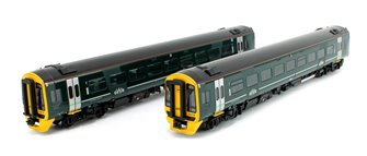 Class 158 2-Car DMU 158766 GWR Green (FirstGroup) DCC Sound Fitted