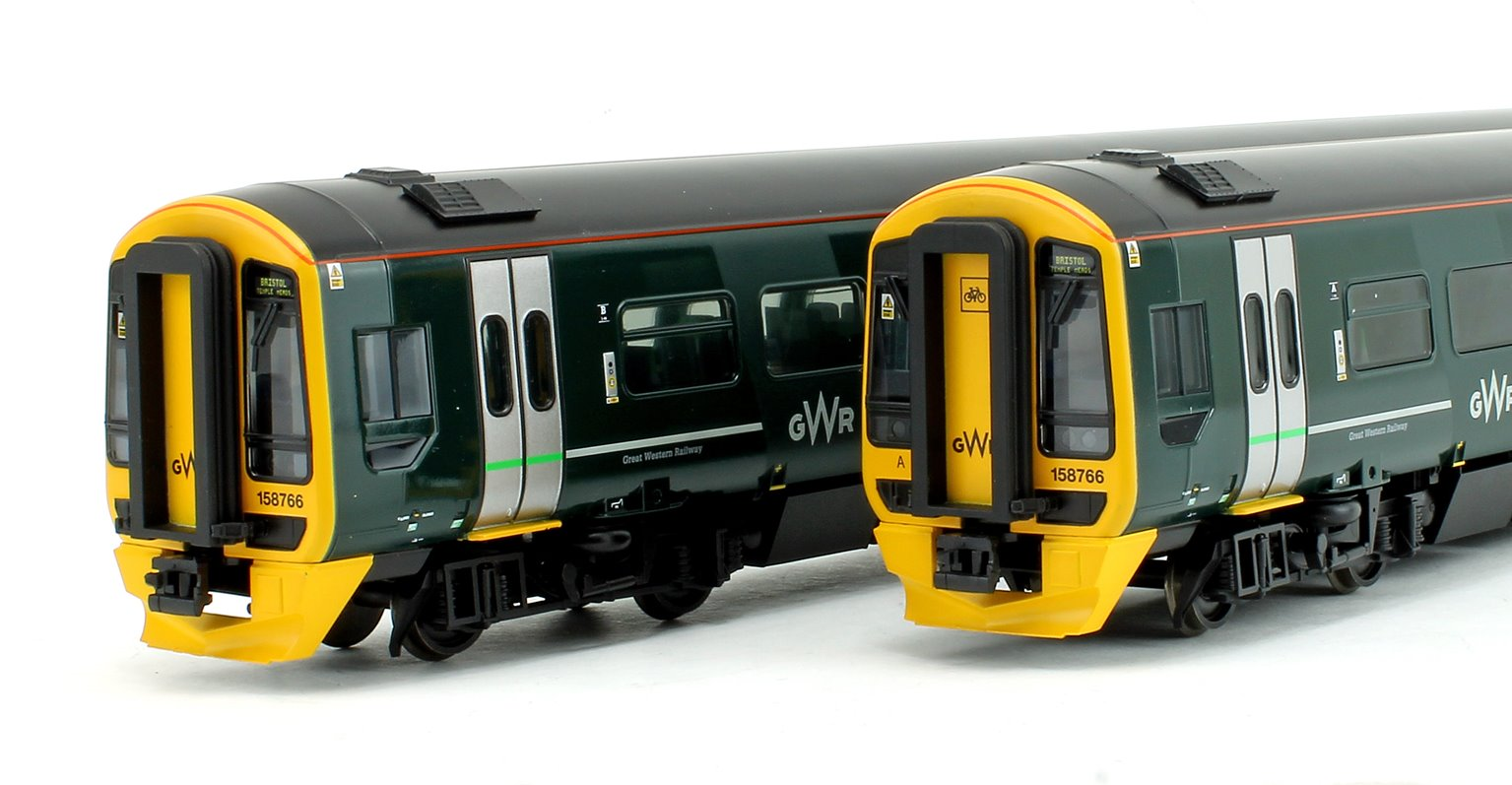 Class 158 2-Car DMU 158766 GWR Green (FirstGroup)