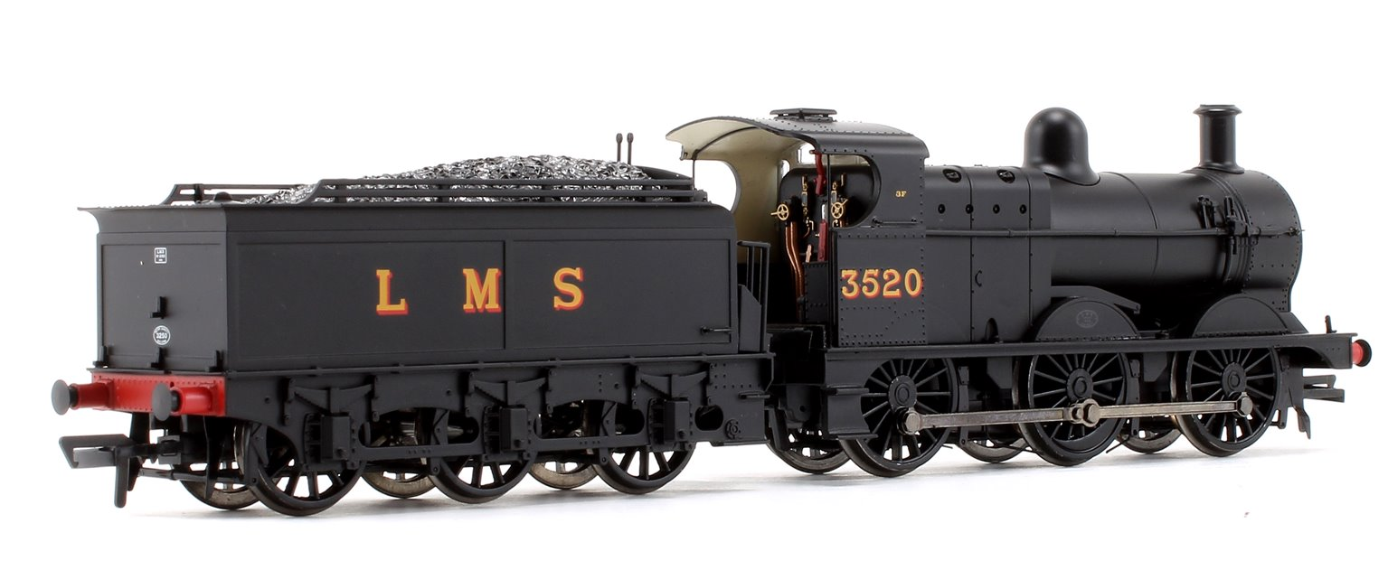 Class 3F LMS Black 0-6-0 Steam Locomotive w/Deeley Tender No.3520