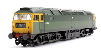 Class 47 47256 BR Green Full Yellow Ends (TOPS) Weathered